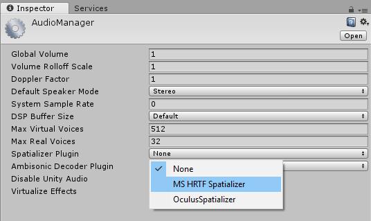 Enable HRTF Spatializer for HoloLens