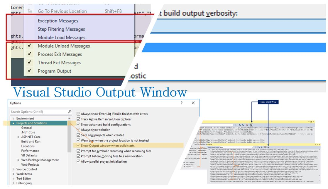 Get the most out of Output Window in Visual Studio