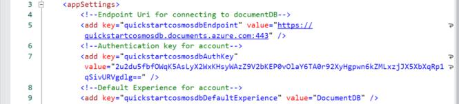 App Config for Cosmos DB