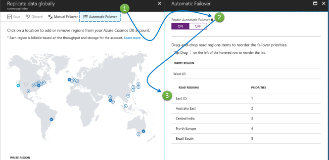 Setting up Automatic Failover for Azure Cosmos DB