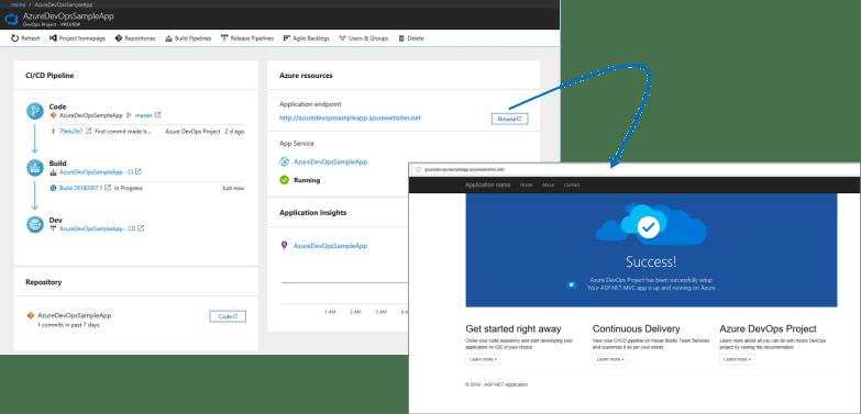 Azure DevOps Project - Browse App Services