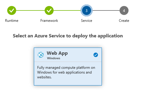 Azure DevOps Project - Select Web App
