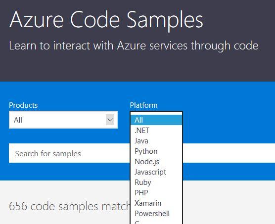 Azure Code Samples Platform