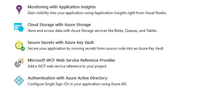 Azure Key Vault connected service in Visual Studio 2017