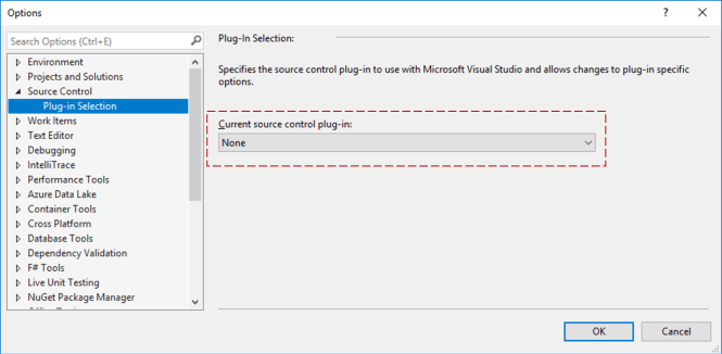 Add to Source Control Option for New Project Dialog : Plug-in Settings
