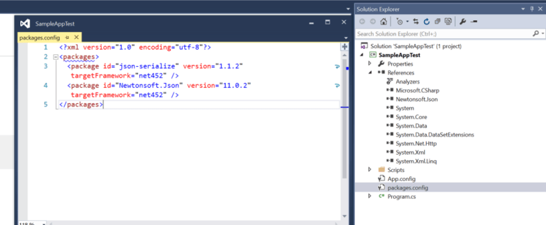 Existing Solution with Nuget Package Config