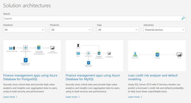 Azure Solution Reference Architectures : Financial Service Reference Architecture
