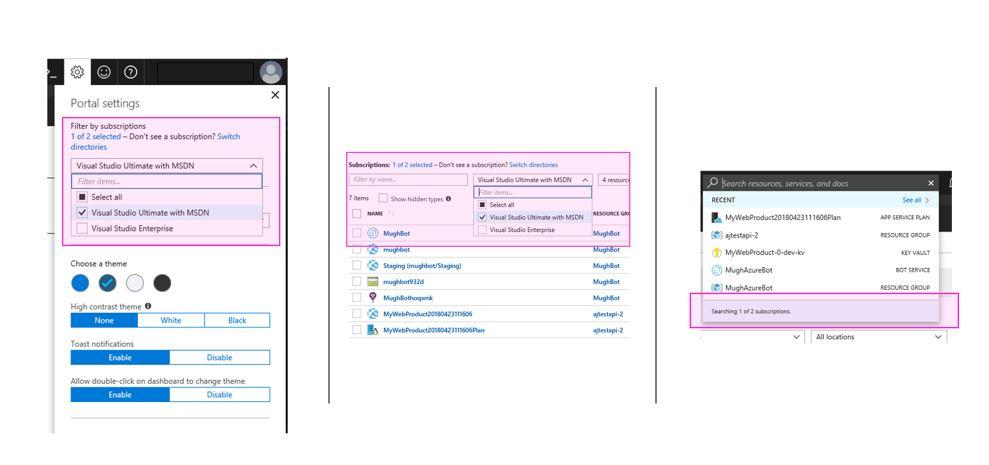Azure Tip: Global Subscription Filtering in Azure Portal