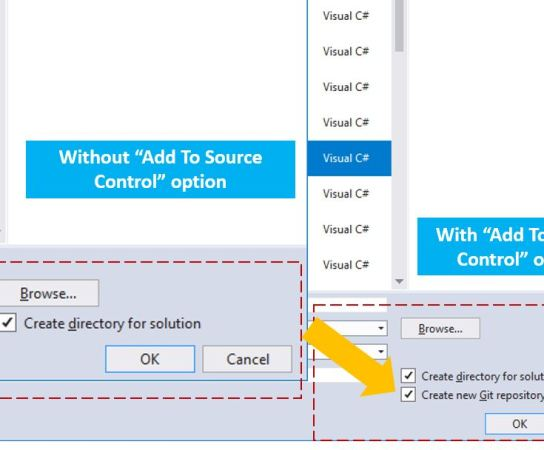 Enabling Add to Source Control Option for New Project Dialog in Visual Studio