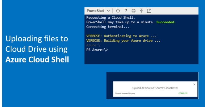 Azure Cloud Shell - Uploading Files