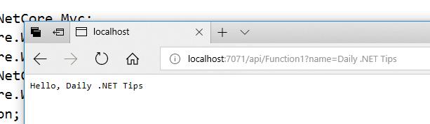 Azure Function Running Locally