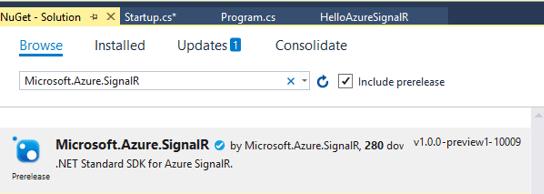 Azure SignalR Service - NugetPackge