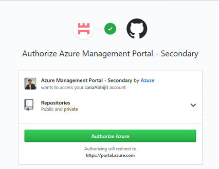 Connect with Git Hub Account