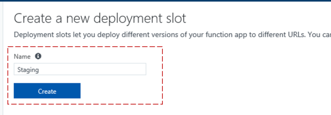 Create Deployment Slot