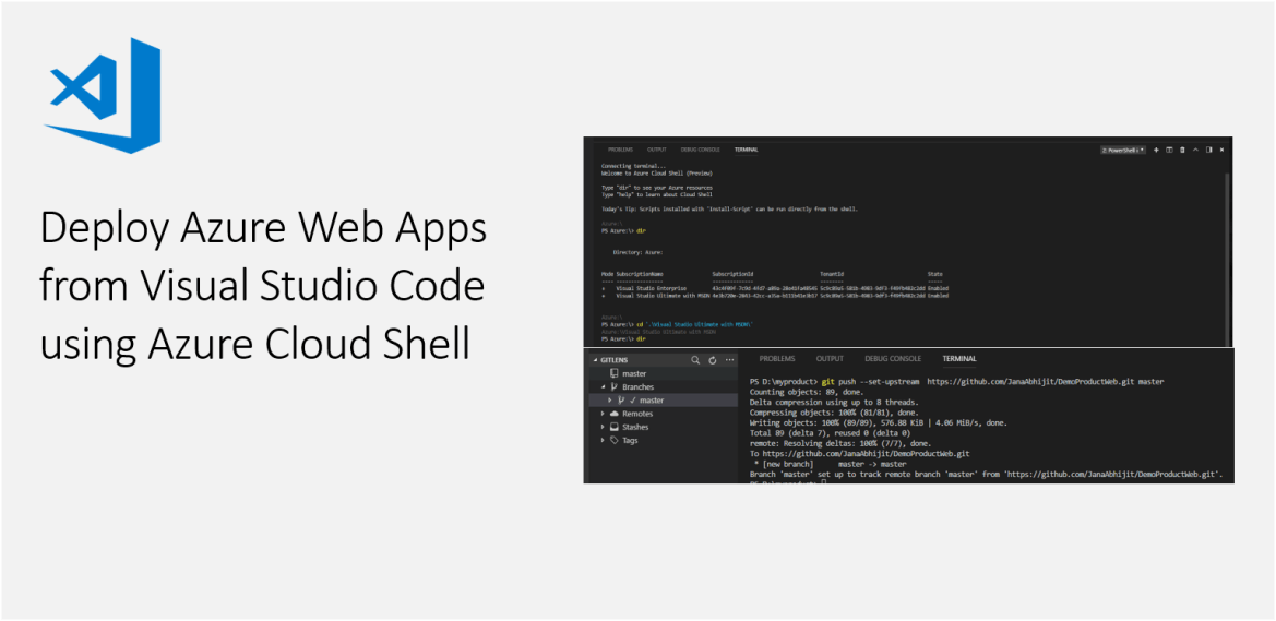 Deploy Azure Web Apps from Visual Studio Code using Azure Cloud Shell