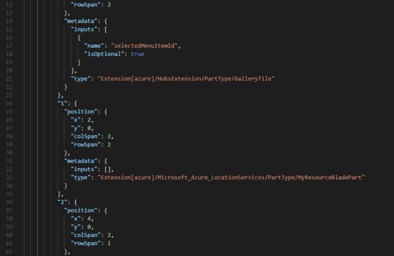 Import Azure Portal Dashboard Sample Json