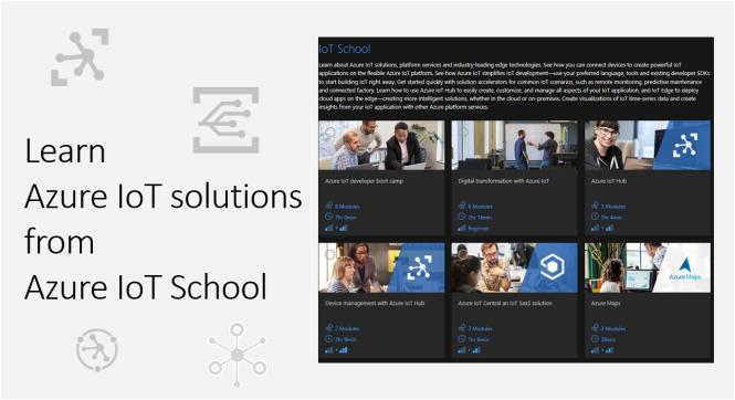 Learn Azure IoT Solution from Azure IoT School