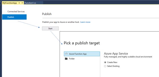 Publish Azure Function