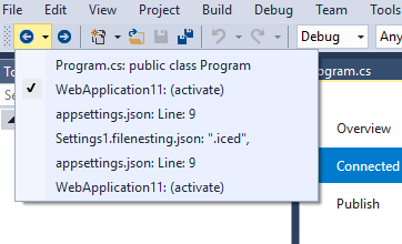 Quickly navigate through Visual Studio - Stack