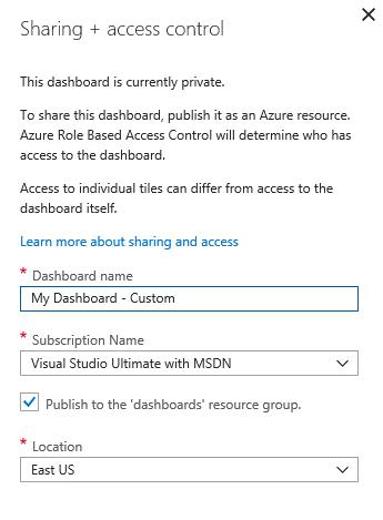 Share Azure Portal Dashboard - Access Control
