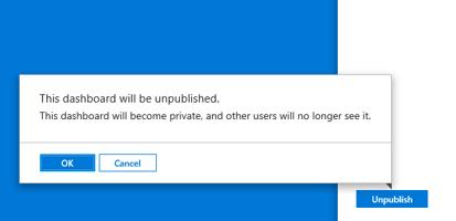 Share Azure Portal Dashboard - Unpublish Dashboard