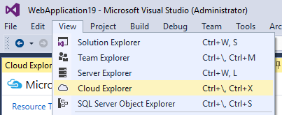 Start Cloud Explorer