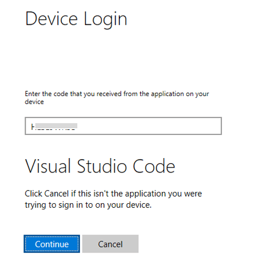 Azure Cloud Shell in Visual Studio Code : Authentication
