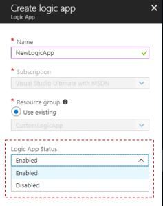 Cloning Azure Logic App to create a new one - Logic App Status
