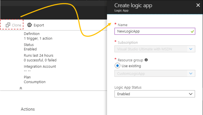 Cloning Azure Logic App to create new one - Create Logic App