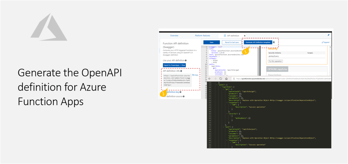 Generate the OpenAPI definition for Azure Function Apps