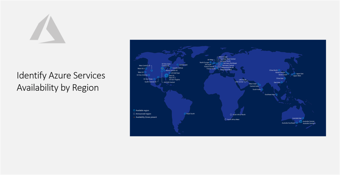 Identify Azure Services Availability by Region