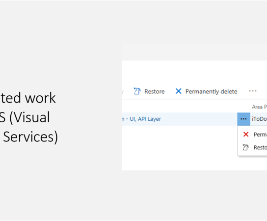 How to restore deleted work items in VSTS?