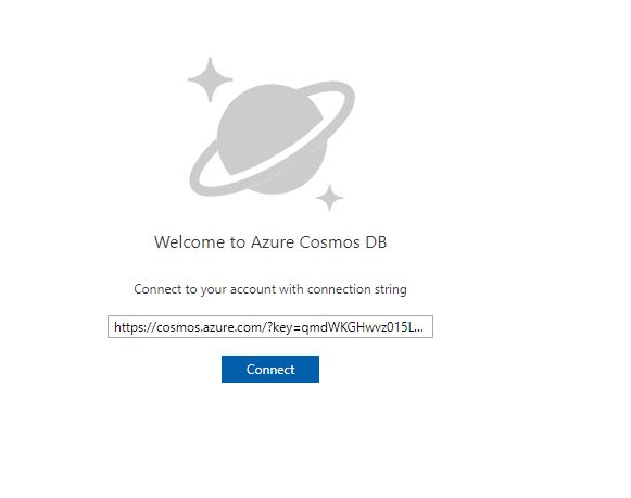 Connect with Azure Cosmos DB Explorer