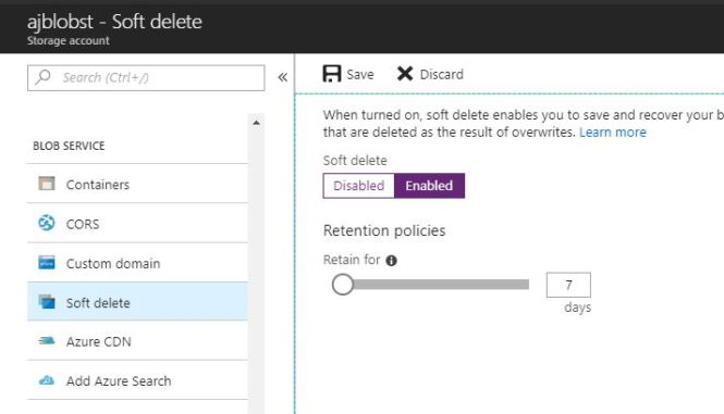 Recover Azure Blob Storage Data by enabling Soft Delete