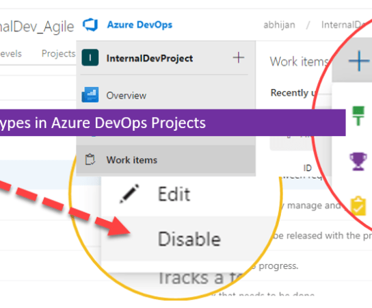 Exclude Work Item Types in Azure DevOps Projects