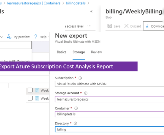 Automatically Export Azure Subscription Cost Analysis Report