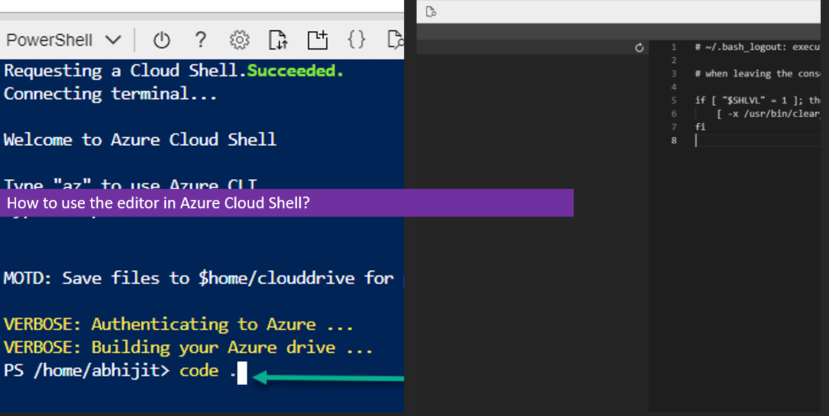 How to use the editor in Azure Cloud Shell? - Daily .NET Tips
