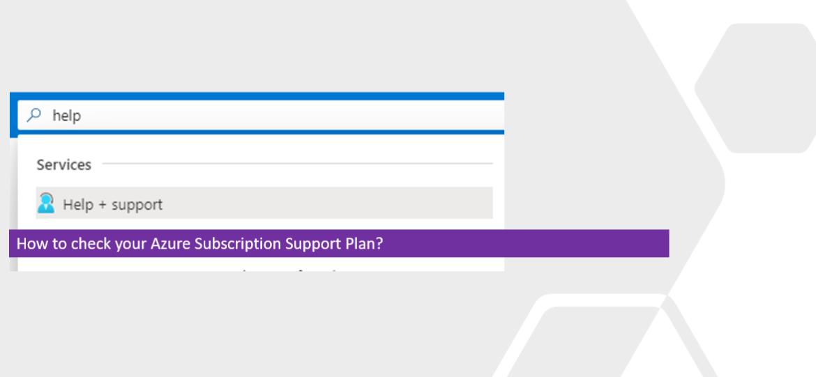 How to check your Azure Subscription Support Plan?