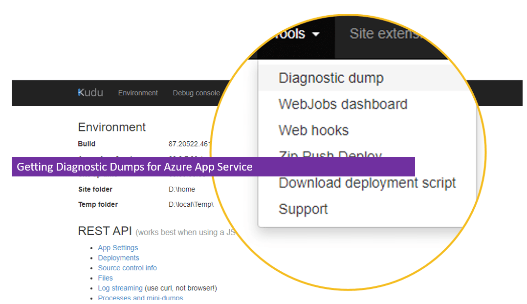 Getting Diagnostic Dumps for Azure App Service