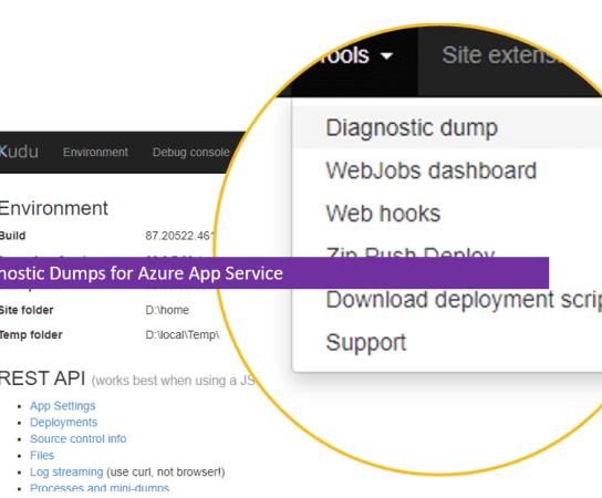 Getting Diagnostic Dumps for Azure App Service