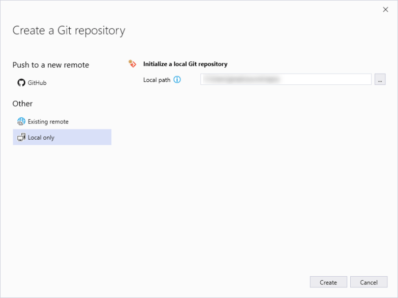initialize a local git repository