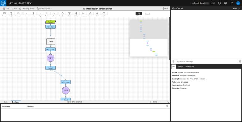Mental Health Screener Bot Design Flow