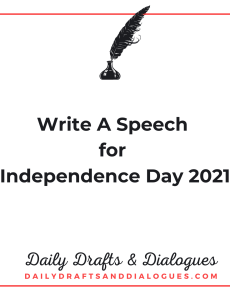 Write A Speech for Independence Day 2021_Blog