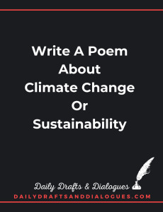 Write a Poem About Climate Change or Sustainability_Blog
