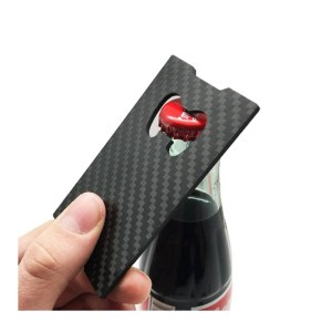Carbon Fiber Bottle Opener Strap Wallet