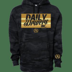 Stay Golden Black Camo Hoodie Sweatshirt