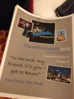 The fan-book, which is a book filled with questionnaires that each attendee filled out in advance