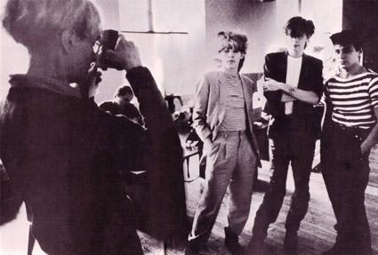 Andy Warhol and band