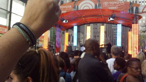 Even a little piece of Daily Duranie was in attendance at the Today Show. Photo courtesy of Pam Greenfield.
