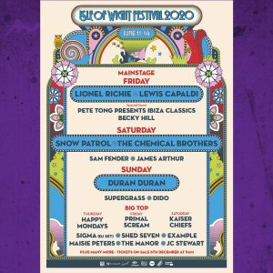 Lineup for Isle of Wight Festival 2020